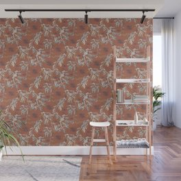 Water Swingers in Beach Sand ( leafy sea dragon pattern in coral ) Wall Mural