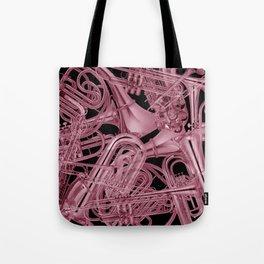 Brass Instruments Rose Tote Bag