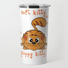 A perfect gift for cat lovers, pet lovers, who mostly like kitten, pussy cat Happy Soft & Warm Kitty Travel Mug
