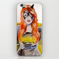 batgirl iPhone & iPod Skins featuring BATGIRL by Clementine Petrova