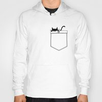 pocket Hoodies featuring Pocket Cat by Tobe Fonseca