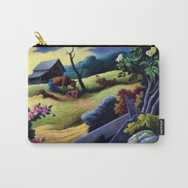 Classical Masterpiece 'June Morning, 1945' by Thomas Hart Benton Carry-All Pouch