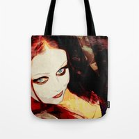 harley Tote Bags featuring Harley by Sirenphotos