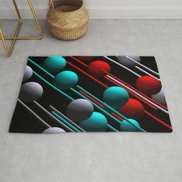 balls and 3 colors Rug