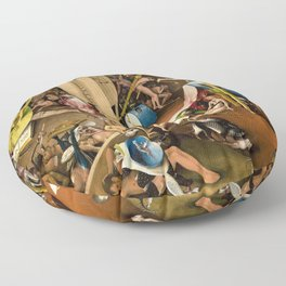 The Garden of Earthly Delights - Bosch - Hell Bird Man Detail Floor Pillow