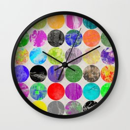 36 Textures - Multi Coloured, Multi Patterned, Multi textured Canvas Painting Wall Clock