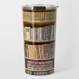 books background in watecolor style Travel Mug