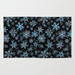 """""""Embroidered"""" Snowflakes Rug"""