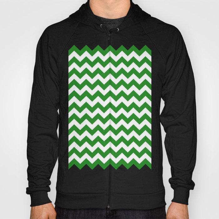 Chevron (Forest Green/White) Hoody