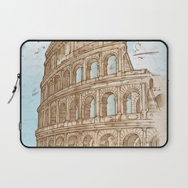 colosseum color hand draw background Laptop Sleeve