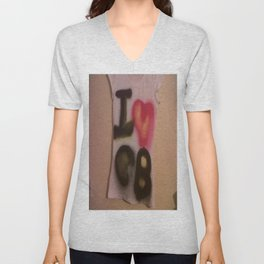 I Love C-B Spray Paint Logo Art Print. Unisex V-Neck