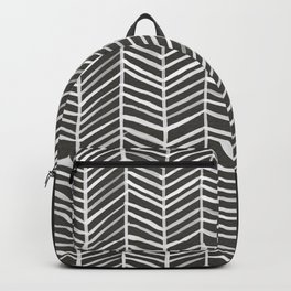 Herringbone – Black & White Backpack