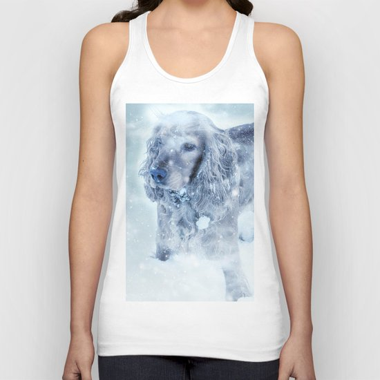 Winter Puppy Unisex Tank Top