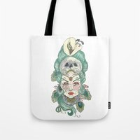 anxiety Tote Bags featuring Anxiety by Melissa Smets