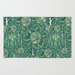 dreaming cabbages Rug