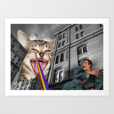 THE CAT STRIKES BACK  Art Print