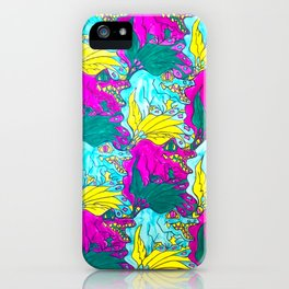 The Alligator Grins / The Peacock Weeps iPhone Case