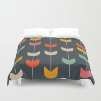 tulips Duvet Covers featuring Tulips by Tracie Andrews
