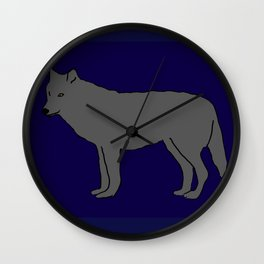 The Furtive Timberwolf Wall Clock