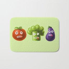 Funny Cartoon Vegetables Bath Mat