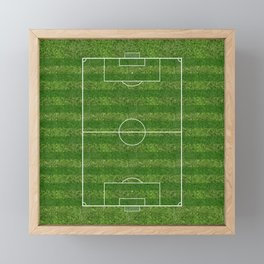 Soccer (Fooball) Field Framed Mini Art Print