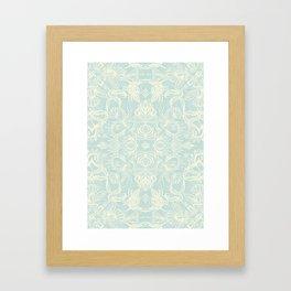 Pale Jade Tattoo - a pattern Framed Art Print