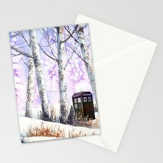 TARDIS IN THE SNOW Stationery Cards