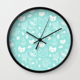 Herb Witch // Green Pastel Wall Clock