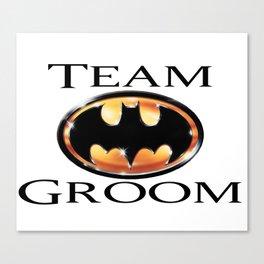 Team Groom Bat man Canvas Print