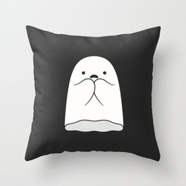 The Horror / Scared Ghost Throw Pillow