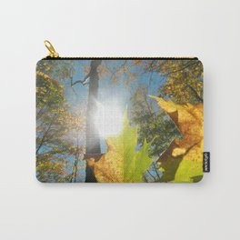 Fall Leaves in the Autumn Sun Carry-All Pouch