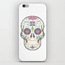 Day of the Dead, Cinco de Mayo, Calavera, Dia de los Muertos - Sugar Skull - Candy Skull Make Up Fac iPhone Skin