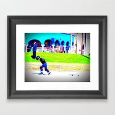young skater Framed Art Print