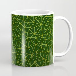 Gold Lowpoly in Green Background Coffee Mug