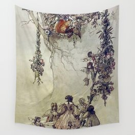 """""""The Fairies Ascent"""" by A. Duncan Carse Wall Tapestry"""