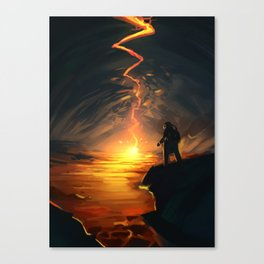 Lava Pit Canvas Print