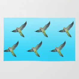 Flying parakeets Rug