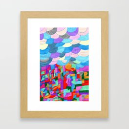 A City in the Clouds Framed Art Print