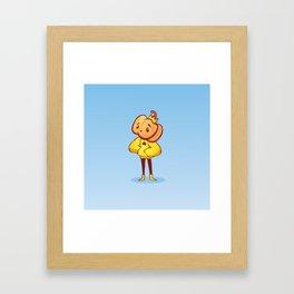 Pumpkin Guy Framed Art Print
