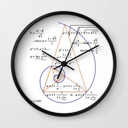 Golden Triangle / Logarithmic Spiral Wall Clock