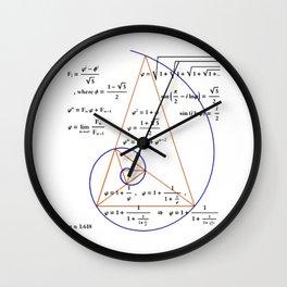 Golden Triangle / Logarithmic Spiral Wall Clock