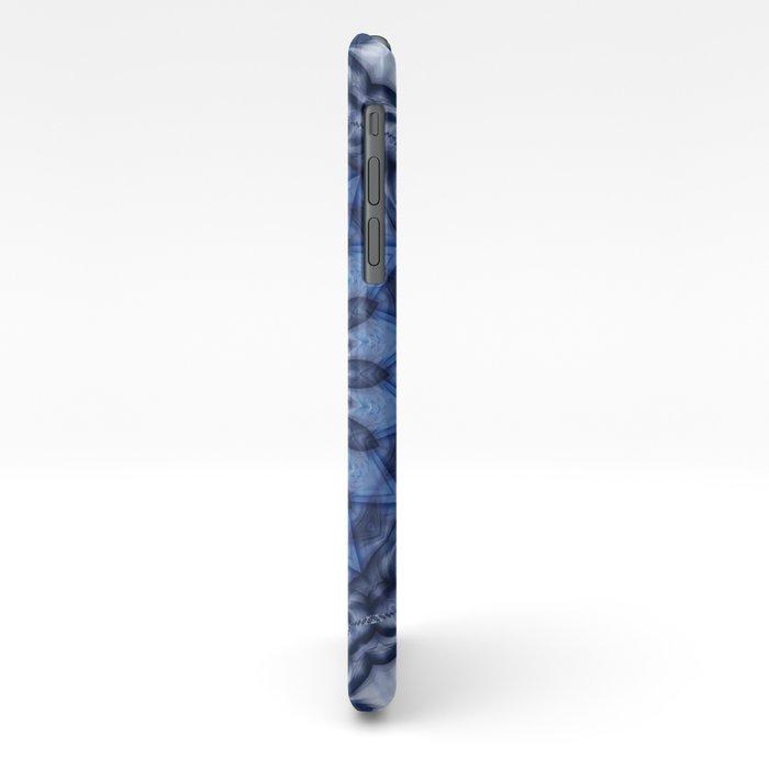 Mandala Iceblue 3 iPhone Case