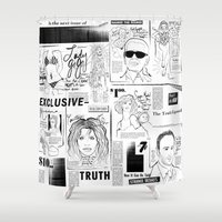 scandal Shower Curtains featuring POP SCANDAL by Christopher Lee Sauvé