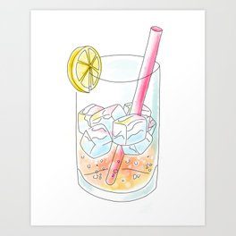 Pink Lemonade Art Print