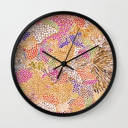 Abstract Flowers 1 Wall Clock