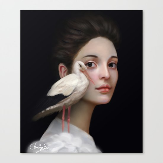 Miss Stork Canvas Print