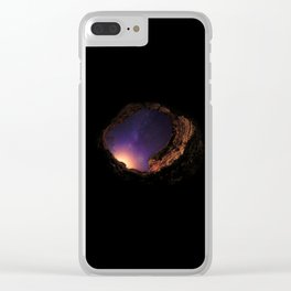 Mistery hole Clear iPhone Case