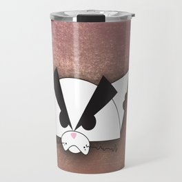 Crabby Cat - white Travel Mug