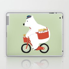 Polar bear postal express Laptop & iPad Skin