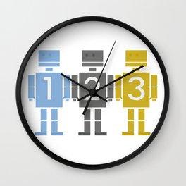 123 Robots Wall Clock